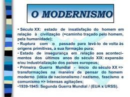 MODERNISMO - Colégio O Bom Pastor