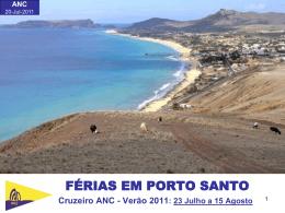Marina do Porto Santo - Associação Nacional de Cruzeiros