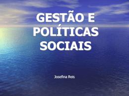 gestão e políticas sociais