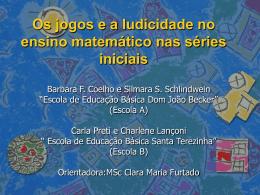 Os jogos e a ludicidade no ensino matemático nas séries