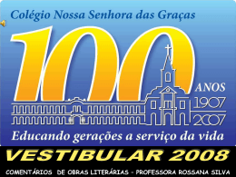 Manuel Bandeira - Colégio Nossa Senhora das Graças