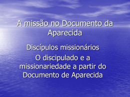 A Missão no Documento de Aparecida
