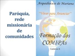 Material de formação sobre o Conselho Missionário Paroquial