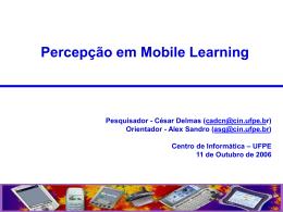 César Delmas - Percepção em m-learning