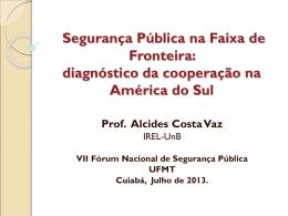 diagnóstico da cooperação na América do Sul