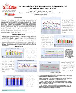 Epidemiologia da Tuberculose em Aracaju
