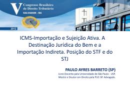ICMS-Importação e Sujeição Ativa. A Destinação Jurídica do Bem e