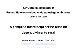 Heterogeneidades de abordagens do rural