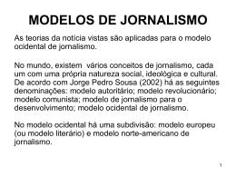 MODELOS DE JORNALISMO