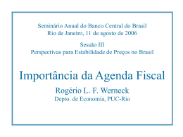 Importância da Agenda Fiscal
