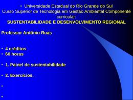 I. Painel de Sustentabilidade. 2
