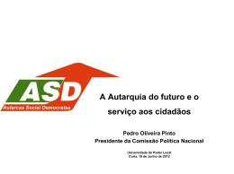 A Autarquia do futuro e o serviço aos cidadãos
