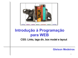 CSS: Links, tags div, box model e layout