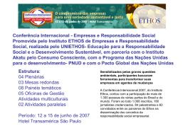 Apresentação - Conferência ETHOS