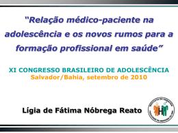 Relação médico-paciente na adolescência: uma estratégia