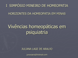 HOMEOPATIA NO HEAL JULIANA LAGE DE ARAUJO