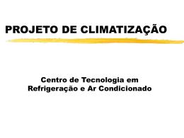 Apresentação de projetos de climatização