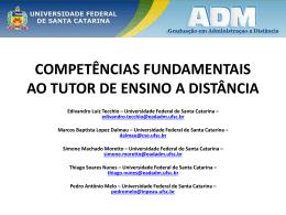 competências fundamentais ao tutor de ensino a distância