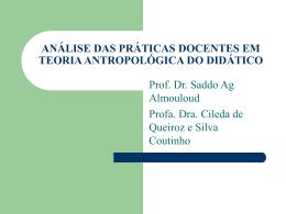 análise das práticas docentes em teoria antropológica do - PUC-SP