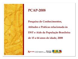 pcap-br_cnaids - Departamento de DST, Aids e Hepatites Virais