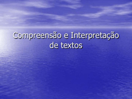 interpretaçao de texto