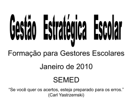 III Módulo Gestão Pedagógica - Prefeitura Municipal de Colatina