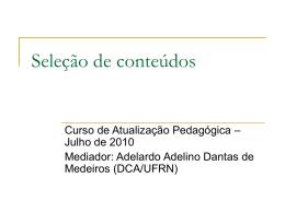 SelecaoConteudos - DCA
