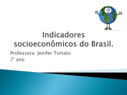 Indicadores socioeconomicos do Brasil