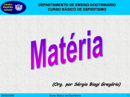 Matéria - Centro Espírita Ismael