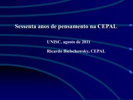 Ricardo Bielschowsky, CEPAL
