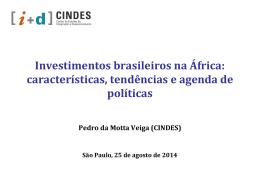 Mapeamento e perfil do IDE brasileiro na África - 1