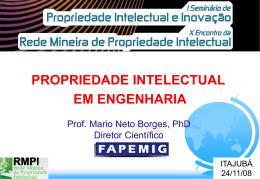 Palestrante Prof. Mário Neto Borges - FAPEMIG