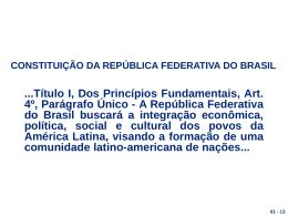 Slide 1 - Comitê das Rotas de Integração da América do Sul