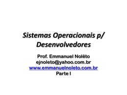 Sistemas Operacionais p/ Desenvolvedores