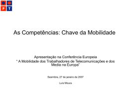 As Competências: Chave da Mobilidade