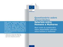 Questionário sobre Disparidades Salariais entre Homens e Mulheres