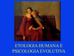 Etologia Humana e Psicologia Evolutiva