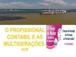 ACR (Palestra Motivacional: O Profissional Contábil e as - CRC-AM