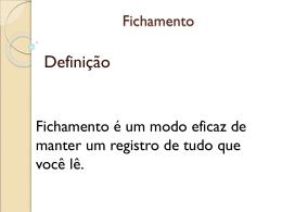 Fichamento - Objetivo Sorocaba