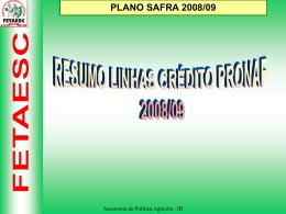 plano safra 2008/09