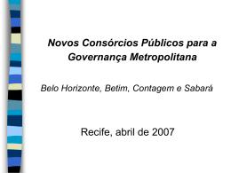 Temática do projeto da Região Metropolitana de Belo Horizonte