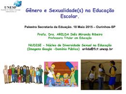 Dra. Arilda Ines - Diversidade Sexual na Escola e Formação de Profs
