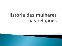 História das mulheres nas religiões