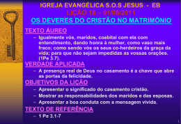 01/08/2011 os deveres do cristão no matrimônio