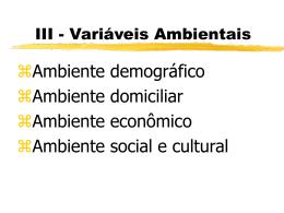 Variáveis Ambientais - TFS Comunicação & Marketing