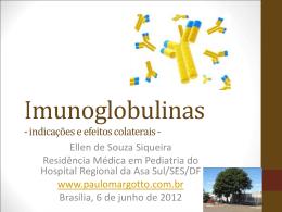 Imunoglobulinas - Paulo Roberto Margotto