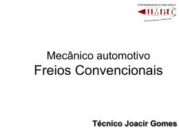 Mecânico automotivo – freios convencionais