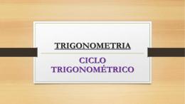 ciclo trigonométrico - 2014