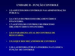 Unid. II - Função Controle 2.5 a 2.9
