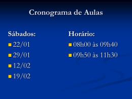 Cronograma de Aulas 1